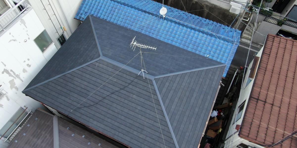 東京都板橋区 屋根上葺き工事