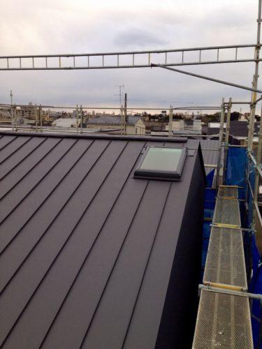 雨樋工事も完了した屋根