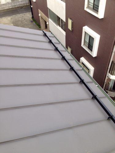施工完了した屋根